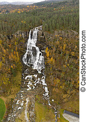 Autumn Waterfalls Rivers in Norway