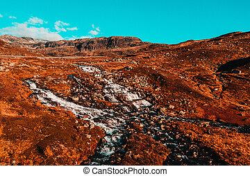 Autumn Waterfalls Rivers in Norway