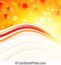 Autumn wavy frame