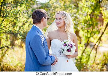 autumn wedding ctremony