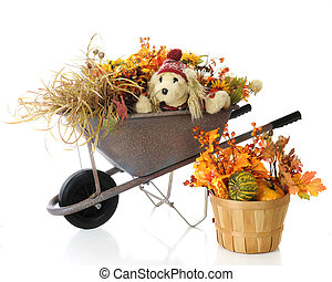Autumn Wheelbarrow Pup