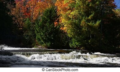 Autumn Whitewater Loop - Loop features rushing whitewater...