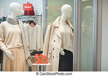Autumn Window Display in Store