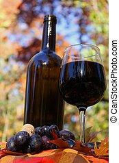 Autumn wine concept