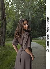 Autumn Woman Fashion Portrait. Fall. Beautiful Girl.