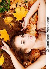 Autumn woman.