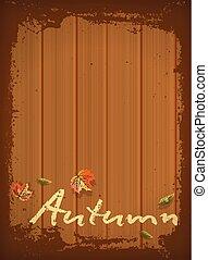 Autumn wood background, vector illustration