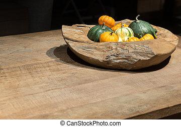 Autumn Wooden Bowl