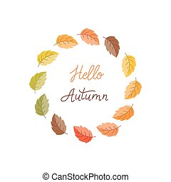 Autumn wreath and lettering