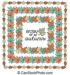 AUTUMN WREATH Fall Season Weather Vector Illustration Set