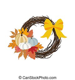 Autumn wreath illustration