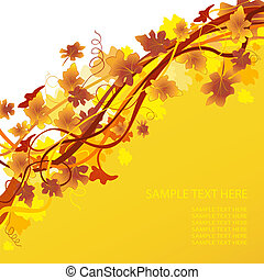autumnal background  - abstract vector autumnal background