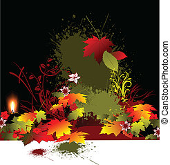 Autumnal background with wedding r