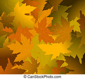 Autumnal concept background. Full editable vector...