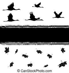 autumnal cranes