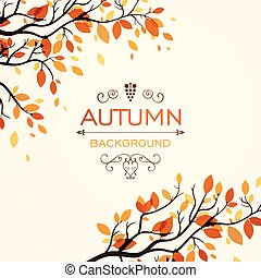 Vector Illustration of an Autumn Design