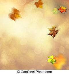 Autumnal fall. Abstract seasonal backgrounds