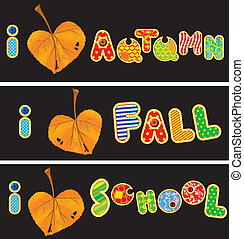 Autumnal heart is made of leaf