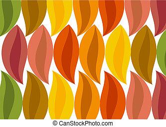Autumnal leaf background