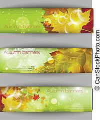 Autumnal leaf background, vector illustration