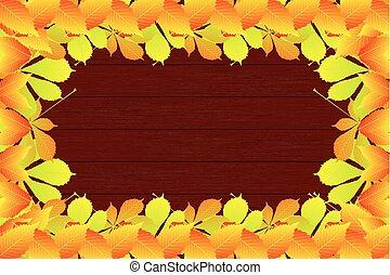 Autumnal leaf of chestnut,