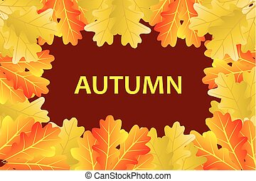 Autumnal leaf of oak