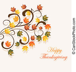 Autumnal leaves background for thanksgiving or seasonal...