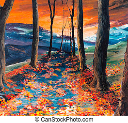 Autumnal road - Autumn - I am author of this image
