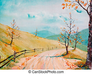 Autumnal road - Road in autumn