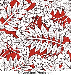 Autumnal seamless card, vector illustration