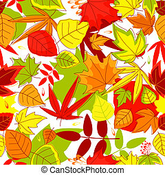 Autumnal seamless pattern
