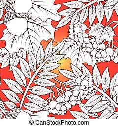 Autumnal seamless wallpaper, vector illustration