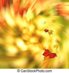 Autumnal swirl, abstract seasonal backgrounds