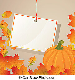 Autumnal Vector Background - Vector Illustration of an...