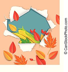 Autumnal vector background ready for design