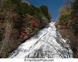 autumnal waterfall