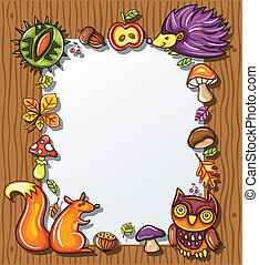Autumnal wooden frame 4