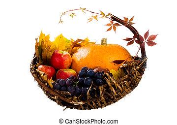 Autumn's basket - fall cornucopia