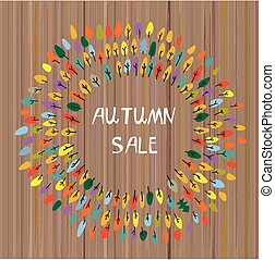 Autumns sale backgroun with the trees