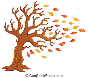 autunno, 1, tema, albero, immagine