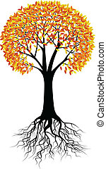 autunno, albero, fondo