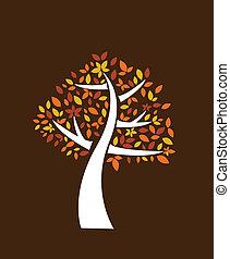 autunno, albero