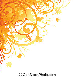 autunno, angolo, disegno