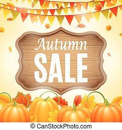 autunno, anouncement, vendita