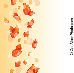 autunno, arancia parte, volare, fondo