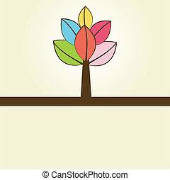 autunno, astratto, albero