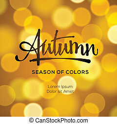 autunno, astratto, defocused, fondo, oro