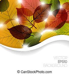 autunno, astratto, floreale, fondo
