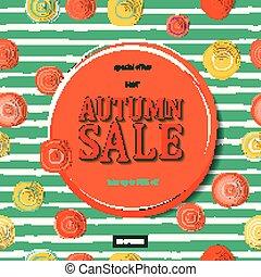 autunno, aviatore, lettering., vendita, sagoma