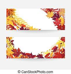 autunno, bandiera, vendita